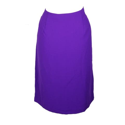 Lauren Ralph Lauren Plus Size Purple Ruffled Pencil Skirt 14W
