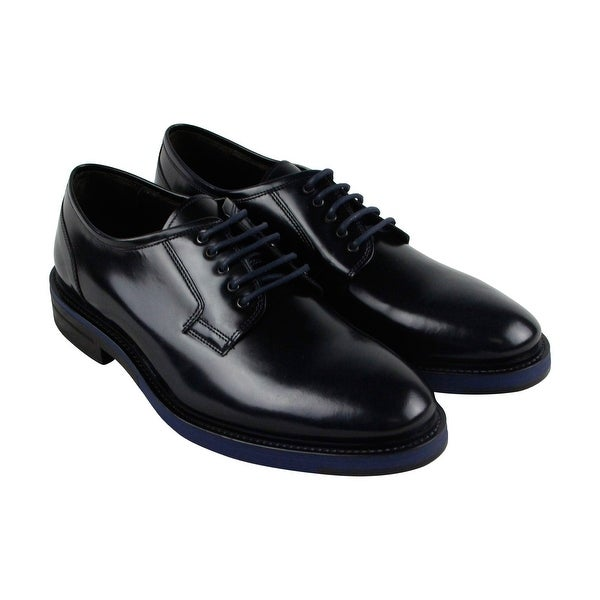 Kenneth Cole New York Hi Five Mens Blue Casual Dress Oxfords Shoes