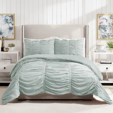 Modern Heirloom Emily Texture Comforter Set, Light Blue