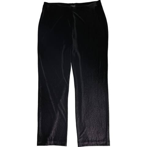Alfani Womens Velvet Foil Dress Pants