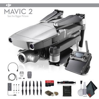 DJI Mavic 2 Zoom (CP.MA.00000020.01) With 64GB Memory Card, Memory Card Wallet, Cleaning Kit and More - Starter Bundle