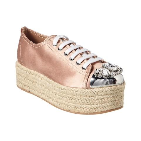 Miu Miu Platform Espadrille Sneaker