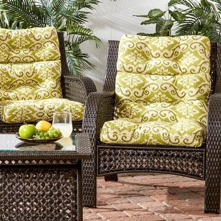 Cocoa Beach 3-section 22-inch x 44-inch Outdoor High Back Chair Cushion (Set of 2) by Havenside Home - 44l x 22w