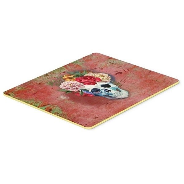 Carolines Treasures BB5130CMT Day of the Dead Red Flowers Skull Kitchen or Bath Mat 20 x 30 in.