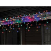 Celebrations 40762-71 LED Twinkle Icicle Light Set, 5.5', 100 Multi-Color Lights