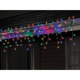 Celebrations 40762-71 LED Twinkle Icicle Light Set, 5.5', 100 Multi-Color Lights
