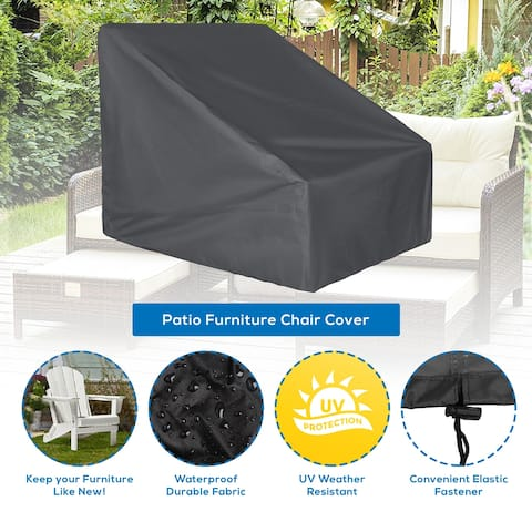Anders Heavy Duty Shielded Outdoor Water Resistant Large Patio Chair Cover