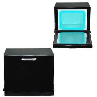 InkBed Black Compact 2-in-1 Towel Warmer & Ultraviolet Sterilizer Cabinet