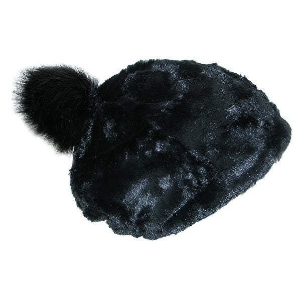 097d8f8ec8837 Pia Rossini Women's Faux Fur Beanie Hat with Faux Fur Pom Pom