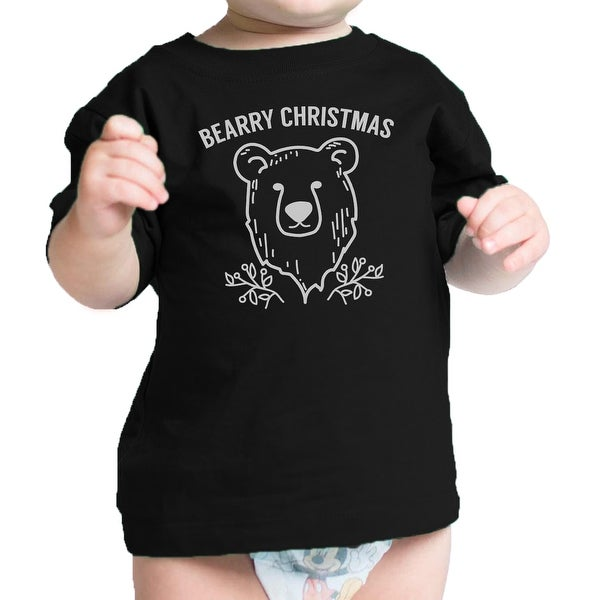 Bearry Christmas Bear Cute Infant Tee Funny Baby Boy Holiday Gifts