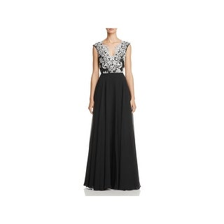 Aidan Mattox Womens Formal Dress Embroidered Special Occasion