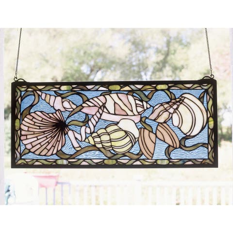 Meyda Tiffany 36431 Stained Glass Tiffany Window from the by the Sea - Tiffany Glass