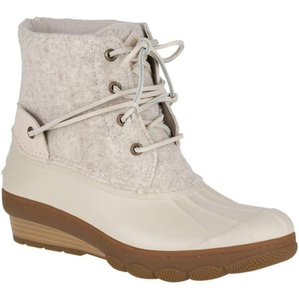 1bddccfcb3ba Sperry Top-Sider Women  x27 s Saltwater Wedge Tide Duck Boot Ivory Wool