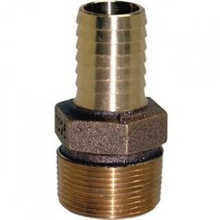 "Water Source MRA125NL Brass Male Reducing Adapter, 1-14"" MNPT x 1"" Insert"