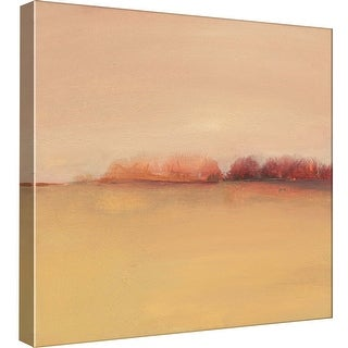 "PTM Images 9-99565  PTM Canvas Collection 12"" x 12"" - ""Distant Red Trees"" Giclee Landscapes Art Print on Canvas"