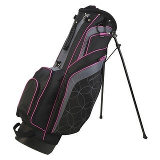 New Tommy Armour Torch Golf Stand Bag w/ Dual Straps - Black / Pink - black / gray / pink
