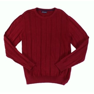 John Ashford NEW Red Mens Size 2XL Texture Stripe Crewneck Sweater|https://ak1.ostkcdn.com/images/products/is/images/direct/ebdc8fc90c262533a01bd7a9103aadddc51cfb5d/John-Ashford-NEW-Red-Mens-Size-2XL-Texture-Stripe-Crewneck-Sweater.jpg?impolicy=medium