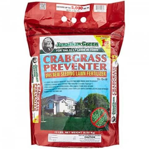Jonathan Green 10465 Crabgrass Preventer Plus New Seeding Lawn Fertilizer, 15 Lb