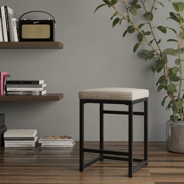 """HomePop Open Back Metal 24"""" Counter Stool - 24 inches - 24 inches. Opens flyout."""