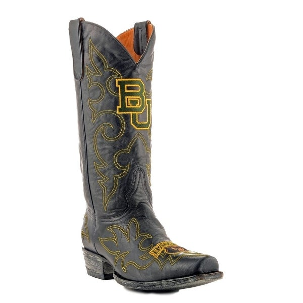 Gameday Boots Mens Leather College Team Baylor Bears Black