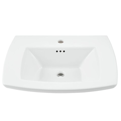 "American Standard 445.001 Edgemere 25"" Fireclay Pedestal Bathroom Sink with Single Faucet Hole and Overflow - Less Pedestal"
