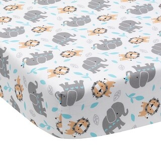 Bedtime Originals Multicolor Jungle Fun Fitted Crib Sheet