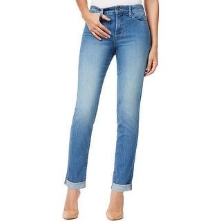 NYDJ Womens Annabelle Boyfriend Jeans Skinny Leg Slimming Fit