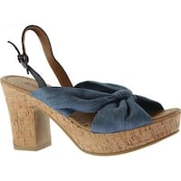 Kenneth Cole Reaction Women's Tole Booth Heel Sandal Blue Denim