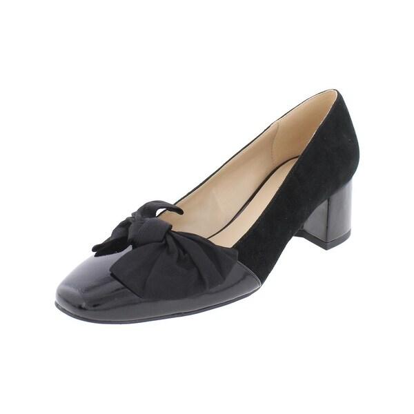 IMNYC Isaac Mizrahi Womens Julia Dress Heels Square Toe Bow