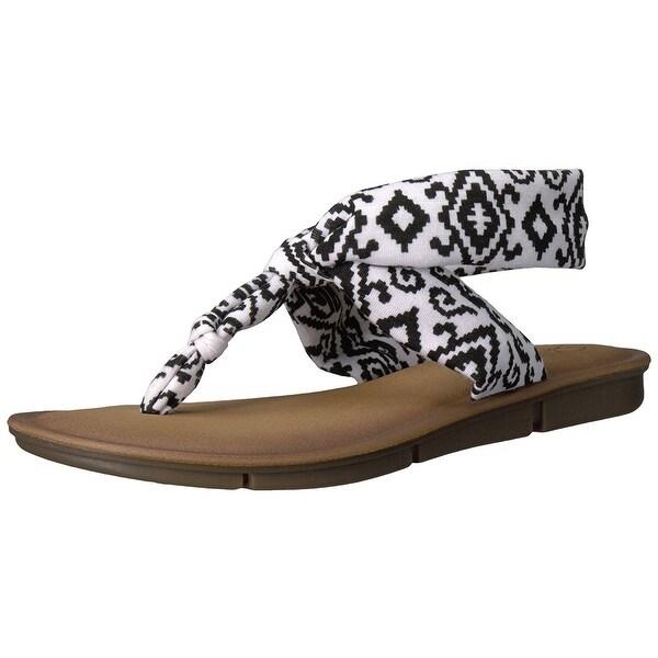 Skechers Womens indulge 2 Fabric Open Toe Casual, White/Black, Size 8.0 - 8