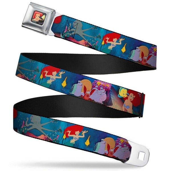 Ariel & Flounder Swimming Full Color The Little Mermaid Under The Sea Seatbelt Belt