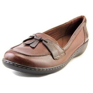 Clarks Ashland Bubble W Moc Toe Leather Loafer