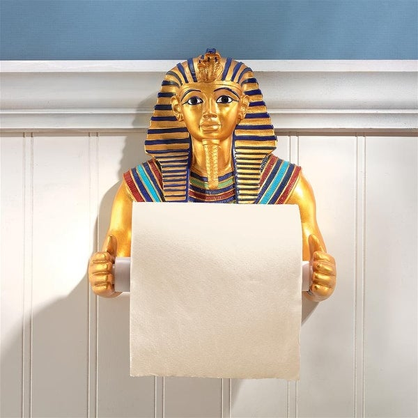 Design Toscano King Tut Royal Bathroom Toilet Paper Holder