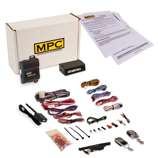 Complete 2 Way LCD Remote Start Kit For 2006 2007 Chevrolet Monte Carlo