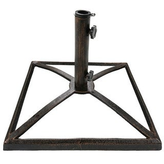 Sunnydaze Sturdy 17 Inch Cast Iron Outdoor Patio Umbrella Base Stand - Options (2 options available)