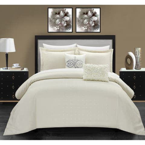 Chic Home Ellie 5 Piece Pleated Comforter Set