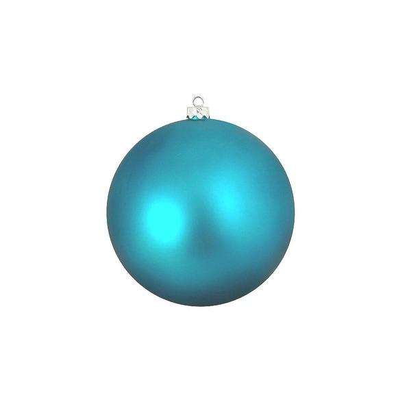 "Shatterproof Matte Turquoise Blue UV Resistant Commercial Christmas Ball Ornament 4"" (100mm)"