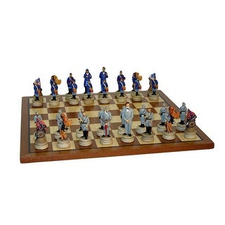 Civil War Generals Chess Set With Sapele Board - Multicolored