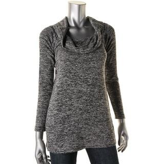 Splendid Womens Off Shoulder Cowl Neck Tunic Sweater - S