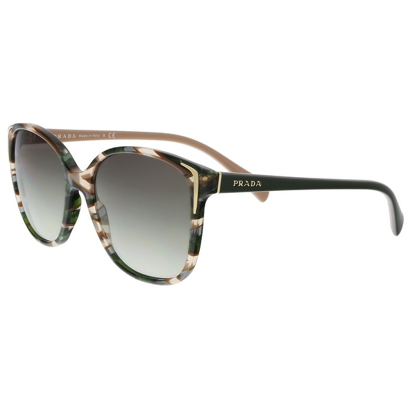 4f9ea8d834c Prada PR01OS CXY0A7 Havana  Green brown ear Square Sunglasses - 55-17-140