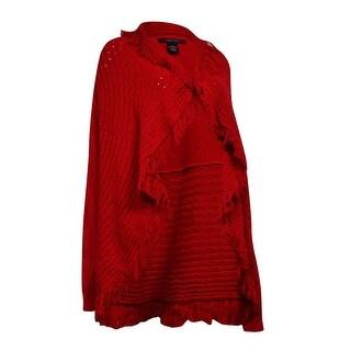 Style & Co. Women's Open Fringe Trim Cardigan (Option: Xs)