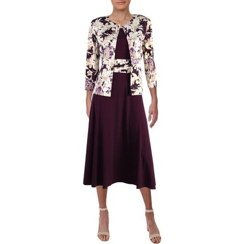 Jessica Howard Womens Dress With Jacket Office Midi