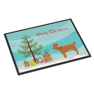 Carolines Treasures BB8478JMAT Toy Poodle Christmas Indoor or Outdoor Mat 24 x 36 in.