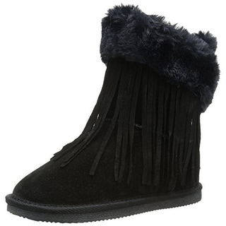 Lamo Girls Fringe Wrap Suede Casual Boots