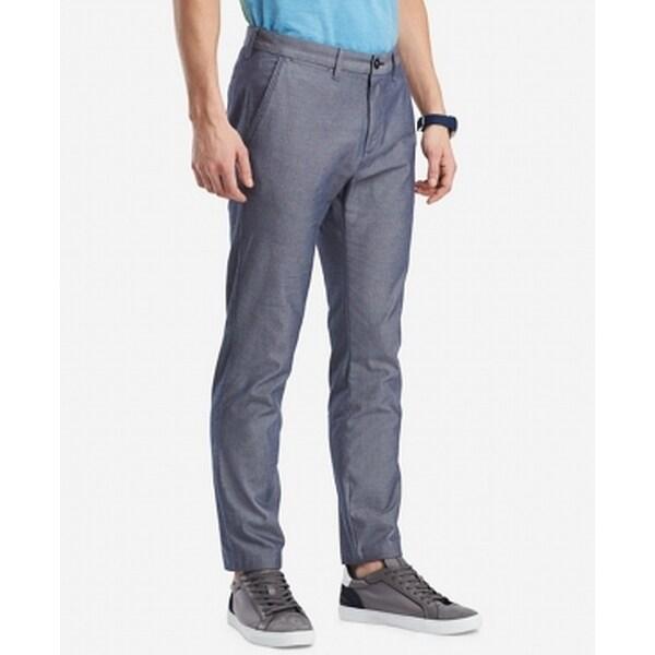 Tommy Hilfiger Blue Mens Size 35x32 Khaki Chino Custom Fit Pants