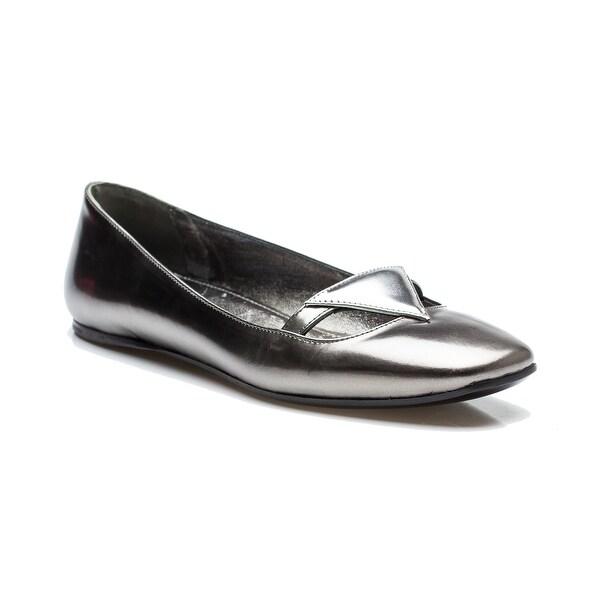 1fb337c0e408 Shop Prada Women s Ballerina Flat Silver Reflective Shoes - Free ...