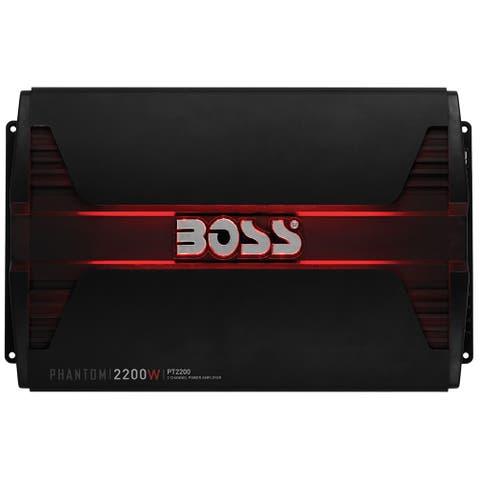 Boss audio pt2200 boss phantom 2200 watts 2channel power amplifier remote subwoofer level control
