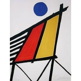 Blue Sun, Limited Edition, Lithograph, Alexander Calder