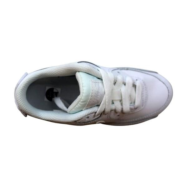 833414 100 Nike Air Max 90 Leather (White White) Preschool