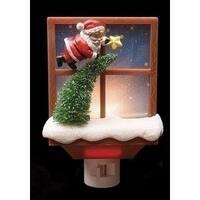 "6"" Multi-Colored Santa Claus with Tree Decorative Christmas Night Light"